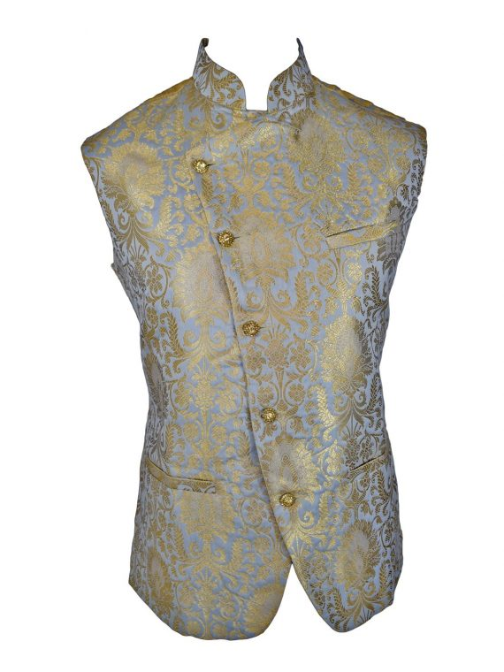 Men's Indian New Jacquard Waist Coat Nehru Jacket MJ1080