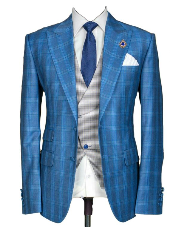 Men's Bespoke Three Piece Suit -Outfit Code 8051 1