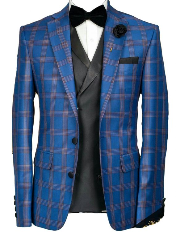 Men's Bespoke Three Piece Suit -Outfit Code 8052 1