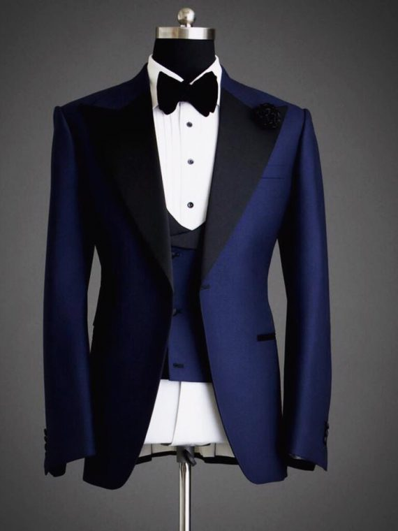 Men's Bespoke Three Piece Suit -Outfit Code 8053 1