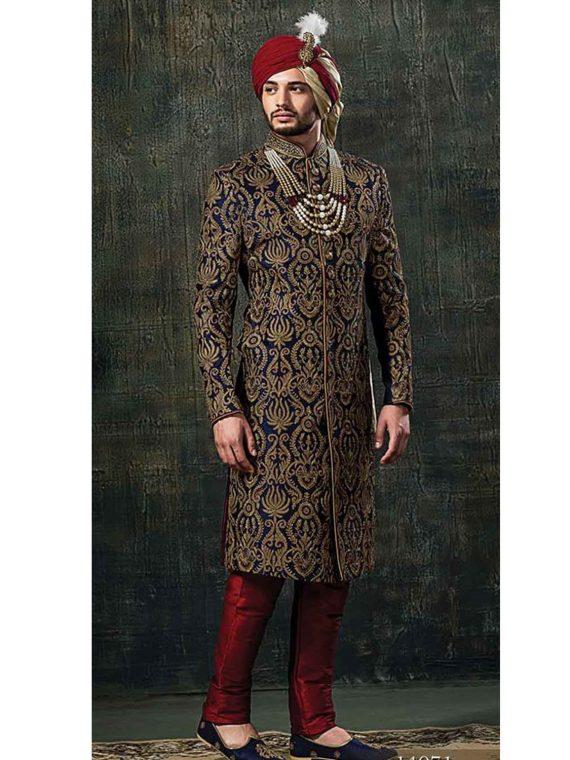 Men's sherwani Outfit Code: 7052 1