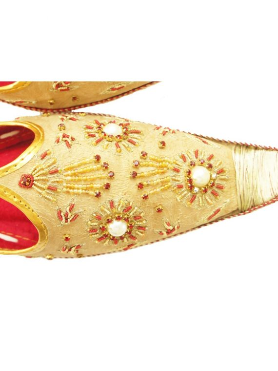 Men's Gold Khussa Shoes Punjabi Jutti - J104