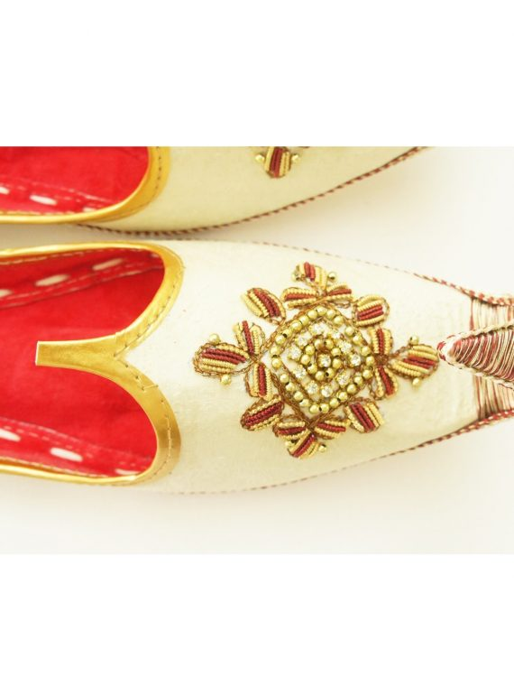 Men's Gold Khussa Shoes Punjabi Jutti - J106