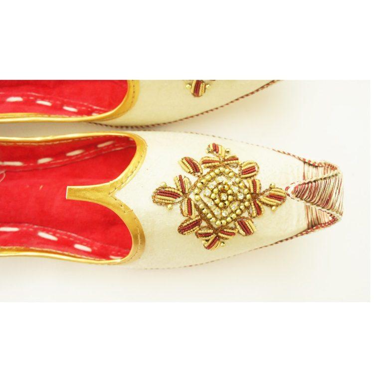 Men's Gold Khussa Shoes Punjabi Jutti - J106