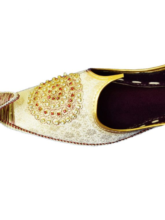 Men's Silver Khussa Shoes Punjabi Jutti - J109
