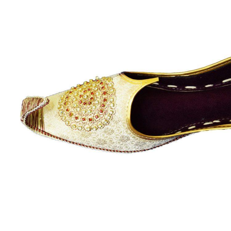 Men's Silver Khussa Shoes Punjabi Jutti - J109