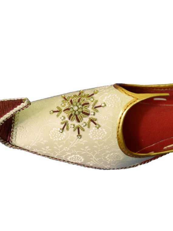 Men's Gold Khussa Shoes Punjabi Jutti - J112