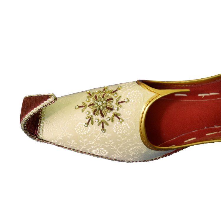 Men's Gold Khussa Shoes Punjabi Jutti - J112