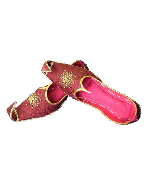 Men's Red Khussa Shoes Punjabi Jutti -J113 1
