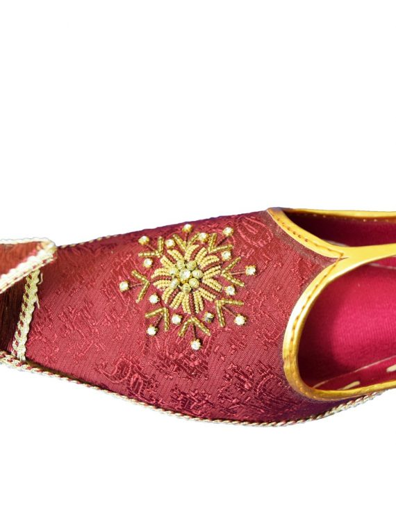 Men's Red Khussa Shoes Punjabi Jutti -J113