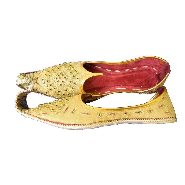 Men's Gold Khussa Shoes Punjabi Jutti - J115 …