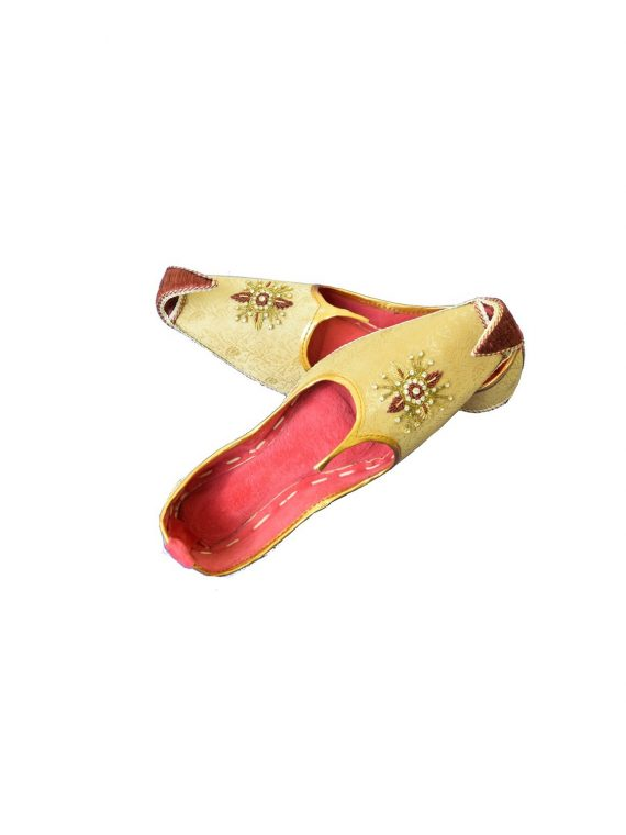 Men's Gold Khussa Shoes Punjabi Jutti – J117 … 1