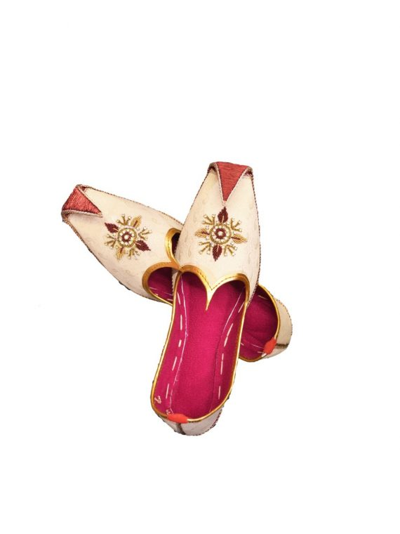 Men's Gold Khussa Shoes Punjabi Jutti J119 … 1