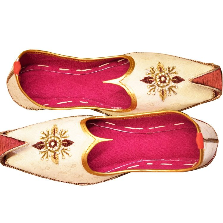 Men's Gold Khussa Shoes Punjabi Jutti J119 …