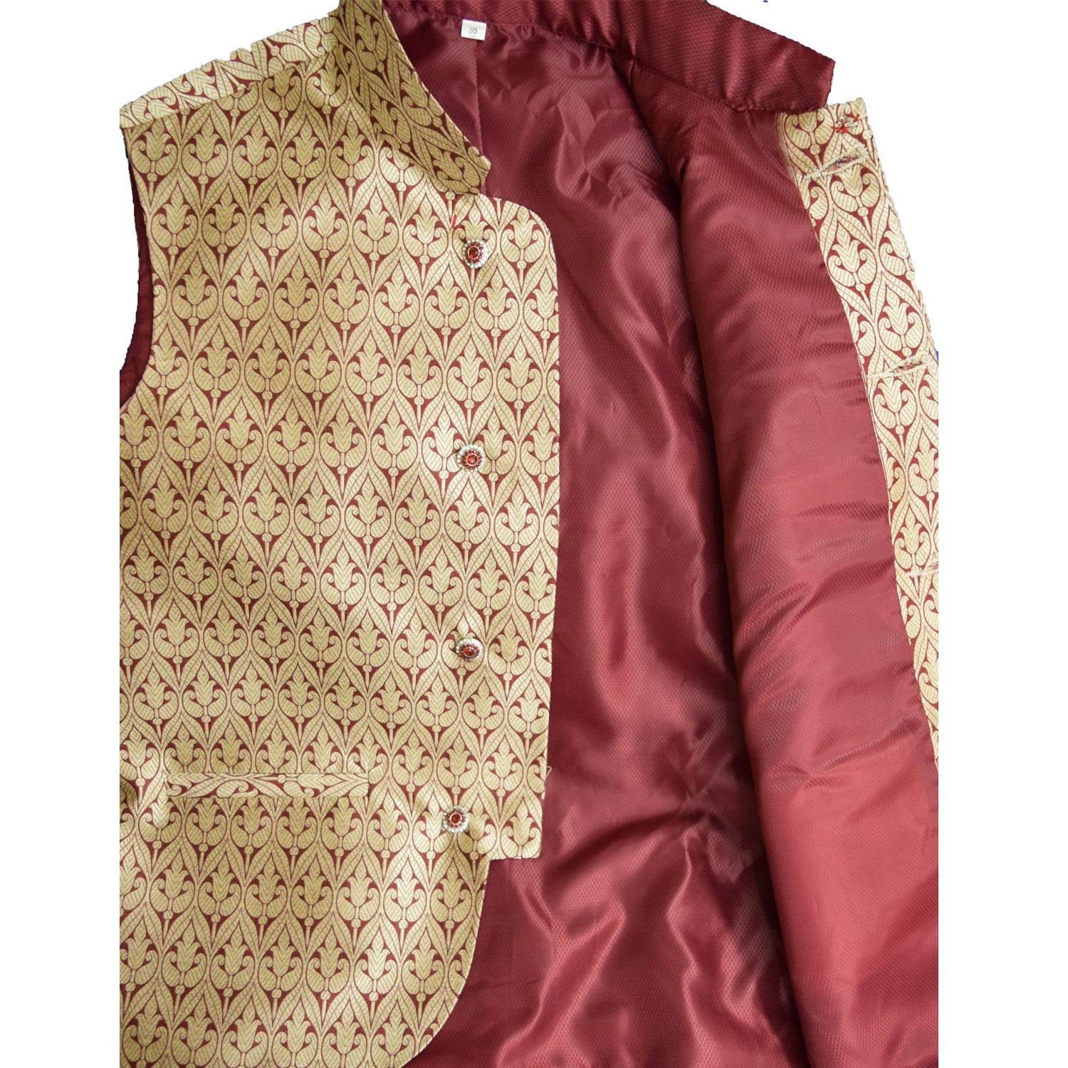 Men/'s Indian  Jacquard Waist Coat Nehru Jacket Modi Jacket JA1000