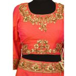 bridal pink silkan lehenga choli with duppata L002