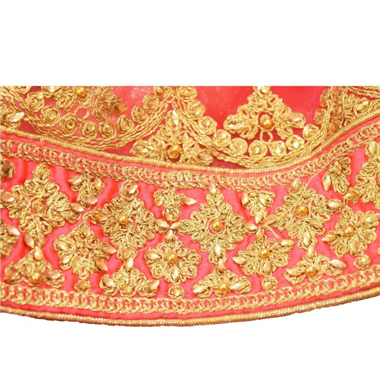bridal pink silkan lehenga choli with duppata L003