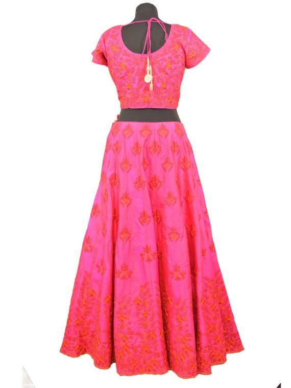 bridal pink silkan lehenga choli with duppata L004.....