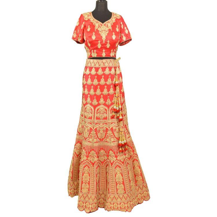 bridal red silkan lehenga choli with duppata L005.....