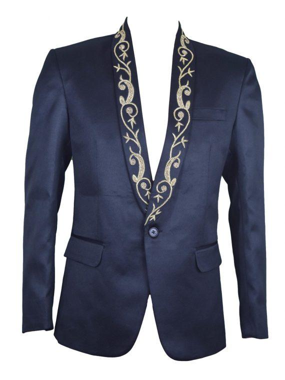 Mens Black Designer Wedding Grooms Blazer BL04 (Copy) 1