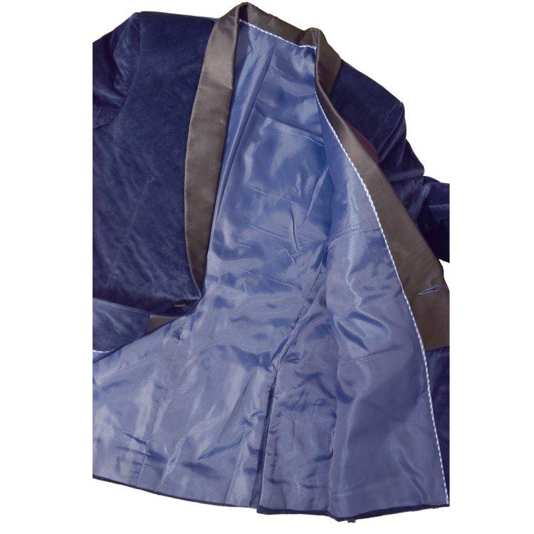 Mens Violet Blue Wedding Velvet Blazer BL03