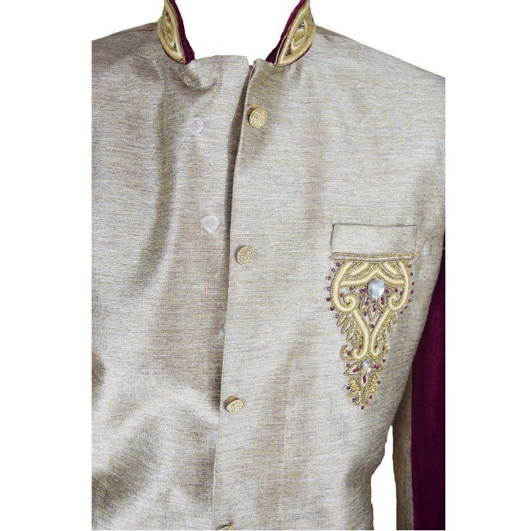 Men,S Red Sherwani Kurta Pajama -GR02 …