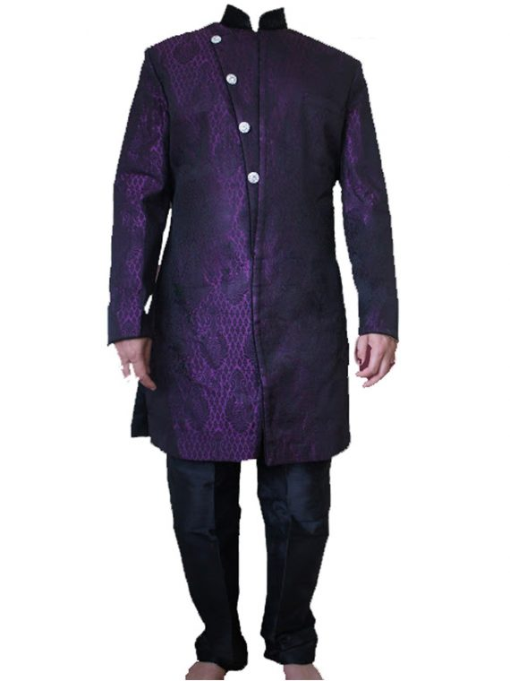 Men,S Purple Sherwani Kurta Pajama -GR03 1