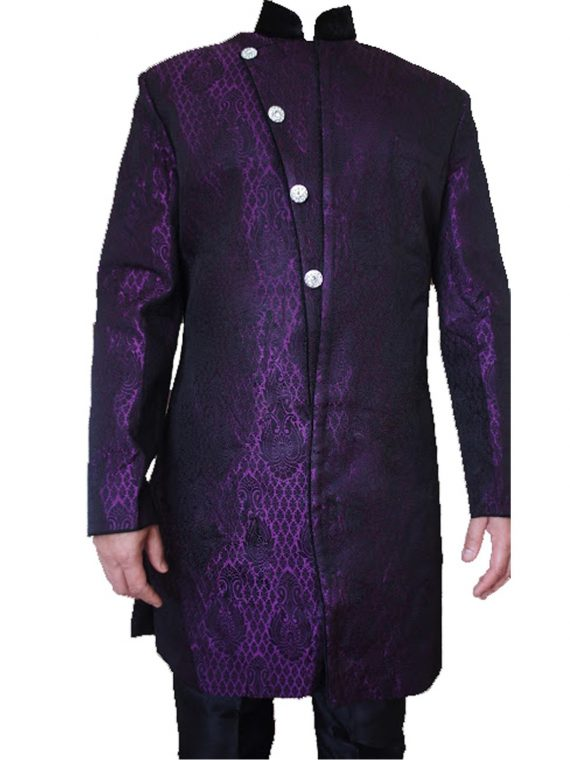 Men,S Purple Sherwani Kurta Pajama -GR03