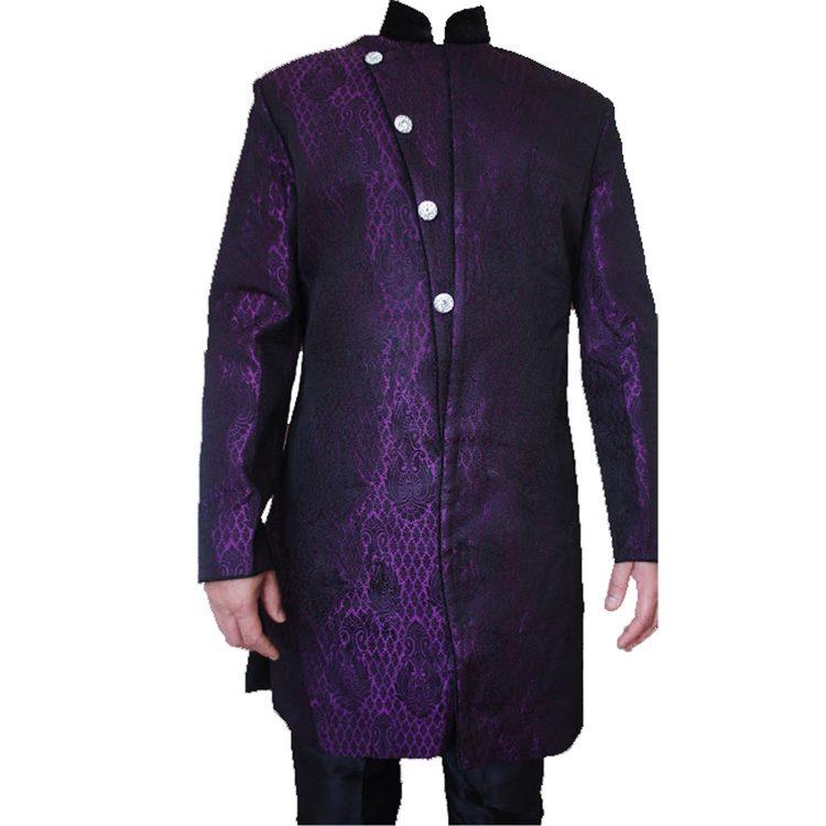 Men,S Purple Sherwani Kurta Pajama -GR03