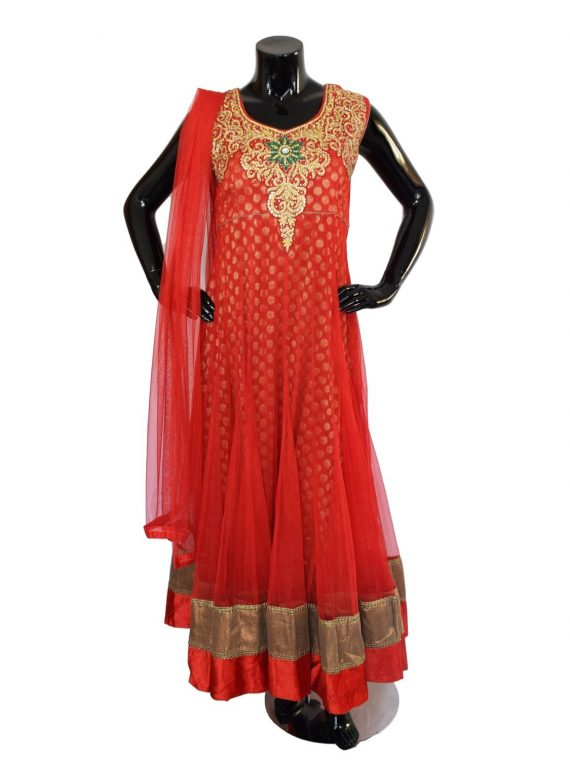INDIAN FLOOR LENGTH ANARKALI SUIT – A502 1