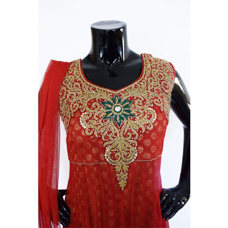 INDIAN FLOOR LENGTH ANARKALI SUIT - A502