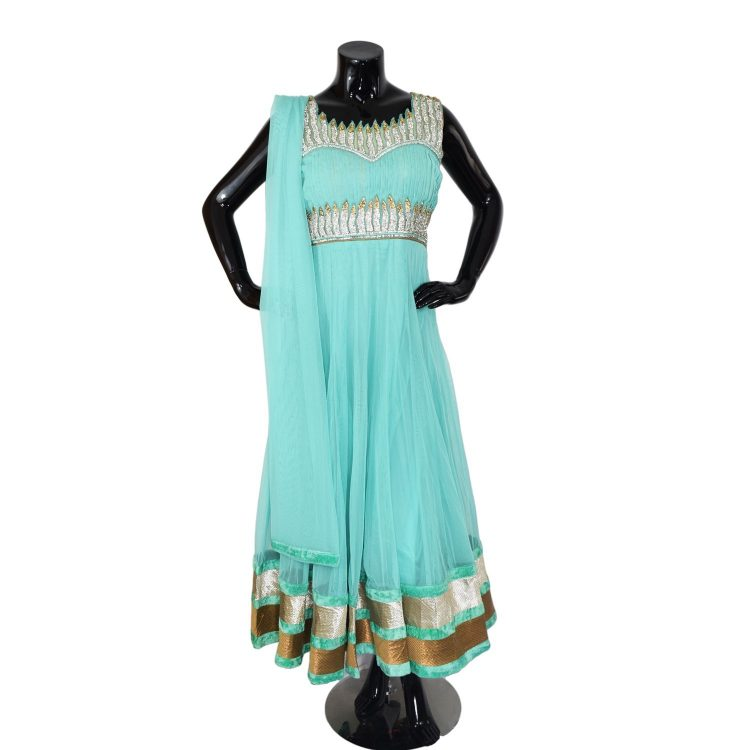 INDIAN FLOOR LENGTH ANARKALI SUIT - A512