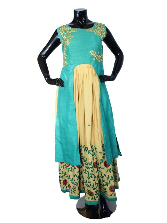 INDIAN FLOOR LENGTH ANARKALI SUIT – A513 1