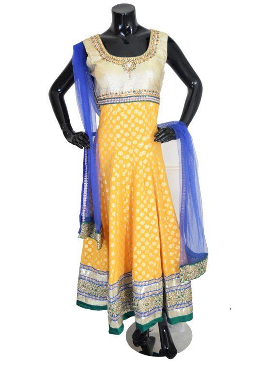 Indian Designer Orange Anarkali Suit Gown-AK115 1