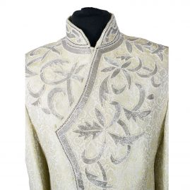Indian Men's Elegant Classic Lemon Gold Sherwani Wedding Outfit. Size XL - GR18