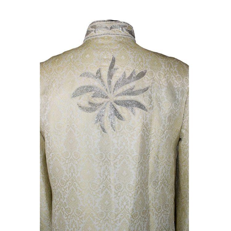 Indian Men's Elegant Classic Lemon Gold Sherwani Wedding Outfit. Size XL - GR18