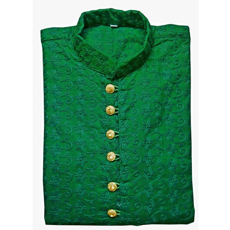 Men's Indian Cotton Chicken Kurta Pajama Sherwani Traditional Outfit GR2020