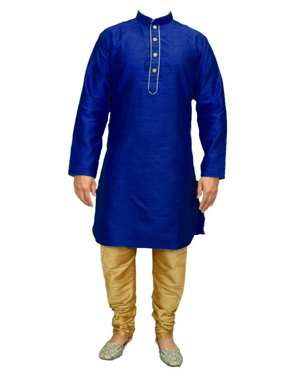 Men's Indian Jacquard Kurta Pajama Sherwani Traditional Outfit GR503