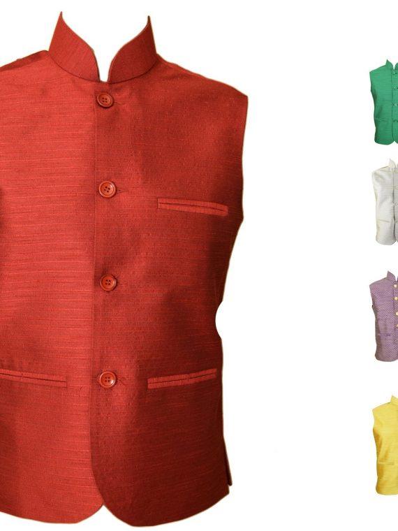 Men's Indian Jacquard Waist Coat Nehru Jacket Modi Jacket JA1000 1