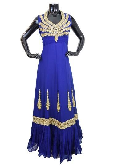 Designer Georgette Blue Anarkali Suit gown-AK121 1