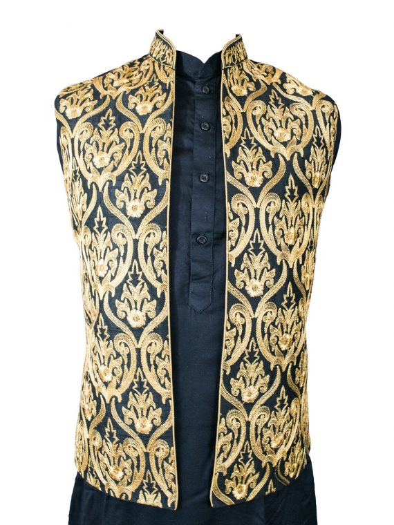 Men's Indian Jacquard Waist Coat Modi Jacket MJ2020