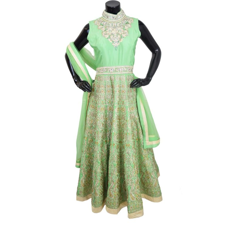 Indian Designer Green Floor Length Anarkali Suit Gown-AK118