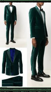 Men's velvet Slim Fit suit