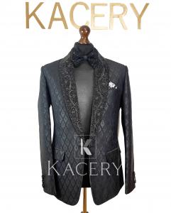 Men's embroidered blazer tuxedo